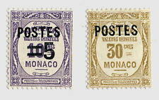 MONACO - 1937 - Yv.140 & 145 Neufs * B/TB
