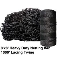 Deluxe Baseball Batting Cage Repair Kit, 8'x8' Netting #42 and Twine