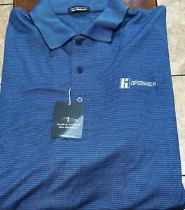 NWT Page & Tuttle Golf s/s polo shirt size XXL blue