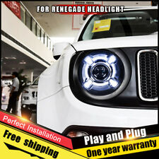 For Jeep Renegade Headlight assembly Bi-Xenon Lens Double Beam HID KIT 2015-2017