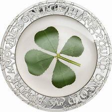 Palau 2016 Four Leaf Clover 5 Dollars Luck 1oz Silver Coin,Proof