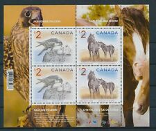 LM76289 Canada horse birds animals wildlife good sheet MNH