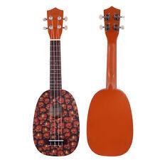 "New Cute Exquisite Pineapple Basswood 21"" Soprano Practice Hawaiian Ukulele"