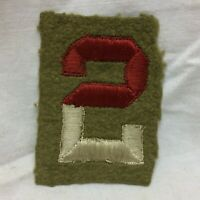 Vtg Military Patch 2nd Army Infantry Division Embroidery OD Wool Variant 2