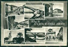 Pisa Santa Croce sull'Arno Saluti da PIEGHINA Foto FG cartolina KF3262