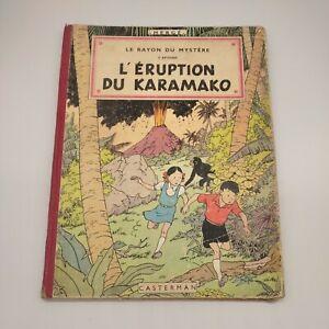 Les Aventures de JO, ZETTE et JOCKO L'éruption du Karamako 1952 Hergé