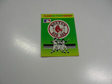 1990 Fleer Baseball Logo Stickers Boston Red Sox Baseball Quiz on back