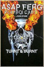A$AP FERG | PLAYBOI CARTI Turnt & Burnt Tour 2016 Ltd Ed RARE Poster! ASAP MOB