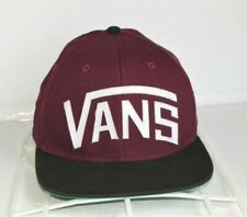 VANS Snapback Hat Two Color White Script Skate Baseball Cap Street Surf Shoes