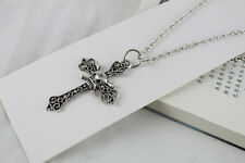 3PCS Tibetan Silver skull cross Pendant Necklace #20092