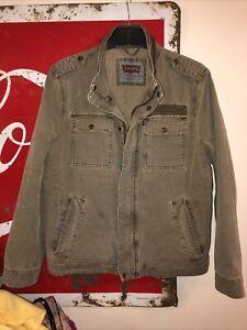 Vintage Mens Levis Military-Style Jacket Khaki/ Green - Size Large