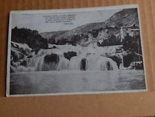 Postcard WW1 French Waterfall Soldier Message Censor Stamp