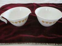 Vintage Corelle Corning Butterfly Gold Hook Handle Creamer & Sugar Bowl Set
