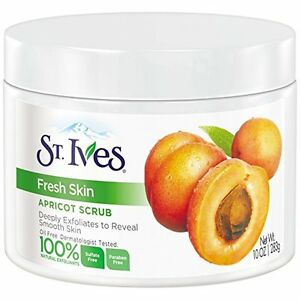 NEW St. Ives Apricot Scrub Invigorating All Skin Types 10 Ounces (2 Pack)