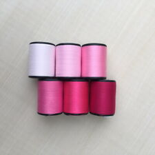 Pink Color shades 6 Spools Sewing Thread All Purpose Spun Polyester 600 Yards