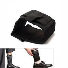 Black Elastic Concealed Carry Gun Holster R/L Ankle Leg For LCP LC9 PF9 S-M