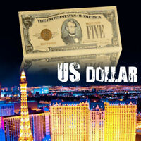 WR US $5 Dollar Bill 24K Gold  America Novelty Banknote Collect