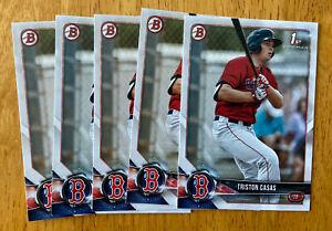 Triston Casas Red Sox 2018 1st Bowman Draft Rookie Baseball 5 Card Lot RC