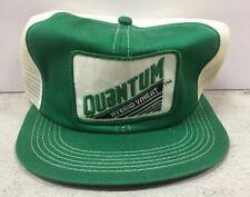 Vintage Quantum Hybrid Wheat Patch Snapback Trucker Hat Mesh Cap Usa K-Brand