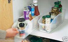 2 CUPBOARD & FRIDGE ORGANIZER BOTTLE CAN JAM JAR FOOD SPICES TIDY STORAGE KITCHE