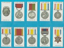 Player`s cigarette cards - DECORATIONS AND MEDALS - Full set.