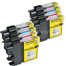 8 Patronen für Brother DCP195C MFC5890CN 490CW DCP145C DCP165C LC980 LC1100 XL