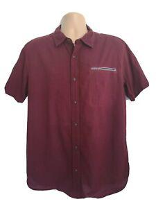 Levis Mens Large Stunning Vintage Claret Oxford Shortsleeve Shirt