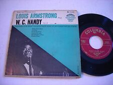 w PICTURE SLEEVE Louis Armstrong Plays W. C. Handy Vol. II 1950s 45rpm EP VG+