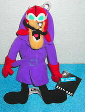 "WARNER BROTHERS HANNA BARBERA WACKY RACERS DICK DASTARDLY 10"" PLUSH BEAN BAG TOY"