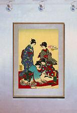 Lady Painting 15x22 Japanese Print by Chikanobu Japan Asian Art Japan