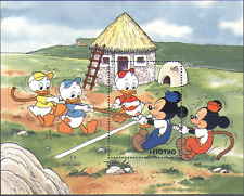 Lesotho 1991 Disney/Cartoon/TUG OF WAR m/s ref:n14476