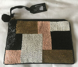 New Small Beaded  Clutch Bag