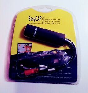 Easy CAP USB 2.0 Video Adapter W/Audio Capture & Edit  New Sealed