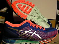 Asics women's running shoes gel quantum 360 cm blue white flash coral size 9