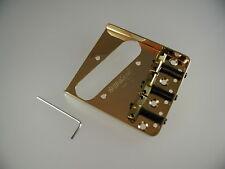 Wilkinson WTB Telecaster Tele compens. Bridge Brücke gold Messing Brass Sattel