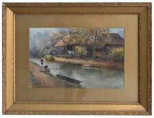Dessin à l'aquarelle Japonaise par  Eizo Kato paysage