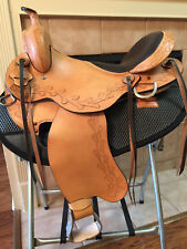 "TN Saddlery 16"" Gaited Western ""Sharp tail"" Saddle Natural"
