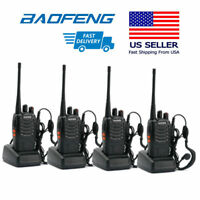 4x Baofeng BF-888S Transceiver CTCSS Single-Band Two-way Ham Radio Walkie Talkie
