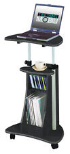 Techni Mobili Rolling Laptop Cart with Storage Graphite- RTA-B002-GPH06 NEW