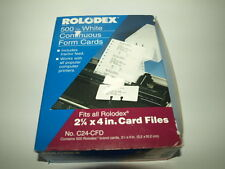 """500 Rolodex C24-CFD White Continuous Feed Form Cards 2 1/4"""" x 4"""""""