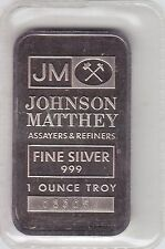 TD Bank Johnson Matthey 1 oz. Fine Silver Bar - Sealed
