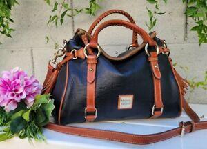 Dooney & Bourke black pebbled leather satchel purse handbag shoulder crossbody
