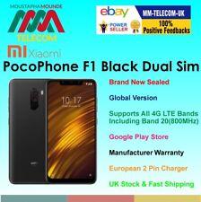 BRAND NEW FACTORY UNLOCKED XIAOMI POCOPHONE F1 64GB BLACK DUAL SIM GLOBAL MODEL