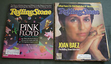2  ROLLING STONE Magazine Pink Floyd The Inside Story 1983 & Best LP 1987
