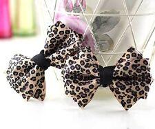 2 Pcs Sexy Leopard Skin Style Ribbon Bow Women Boots Flip Flop Shoe Clips