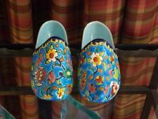 Longwy Wall Pocket Shoes Slippers Enamel France Art Deco