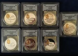 CANADA 1991-1994 PROOF 20 DOLLARS  SILVER COINS, CERTIFIED PCGS PR69-DEEP CAMEO