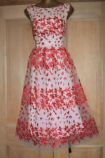 DEBENHAMS DEBUT PINK EMBROIDERED EVENING OCCASION PARTY DRESS SIZE 18 BNWT