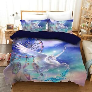 Dream Catcher Unicorn Quilt/Duvet/Doona Cover Set Single Double Queen Size