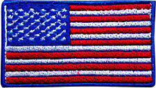 USA Flag Embroidered Iron On Patch Sew On Jeans Applique Jacket Fancy Hat Badge